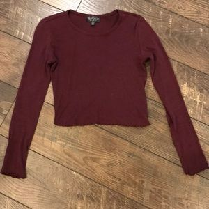 Topshop Cropped Knit Top